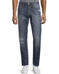 Jean Shop - Distressed Cotton Jeans - Lyst