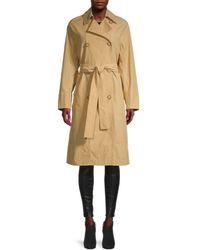 Vince Women's Drapey Tech Trench Coat - Sun Khaki - Size M - Natural