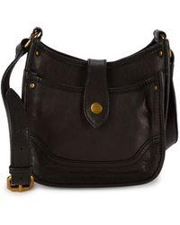 Frye Mini Madison Leather Crossbody - Black