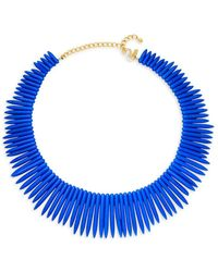 Kenneth Jay Lane Women's 22k Gold Electroplated Spiked Collar Necklace - Metallic