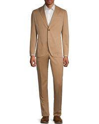 Boglioli Standard-fit Wool & Cotton-blend Suit - Multicolor
