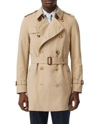 Burberry Chelsea Mid-length Trench Coat - Natural