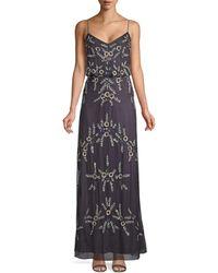 Adrianna Papell Beaded Blouson Gown - Multicolour