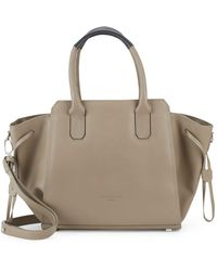 Liebeskind Berlin Top Zip Leather Satchel - Brown