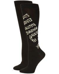 Juicy Couture 2-pack Leopard-print Logo Crew Socks - Black