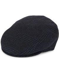 Saks Fifth Avenue Piemonte Plaid Virgin Wool-blend Hat - Blue