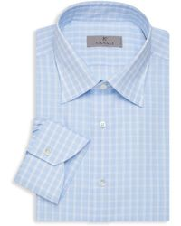 Canali Modern-fit Check Dress Shirt - Blue