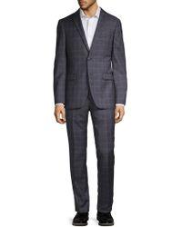 John Varvatos - Slim-fit Bedford Plaid Wool Suit - Lyst