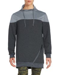 American Stitch Quilted Heather Pullover - Grey