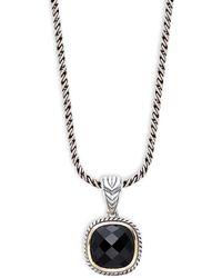 Effy 14k White Gold & Diamond Flower Pendant Necklace - Multicolour