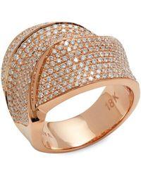 Effy 18k Rose Gold & 1.97 Tcw Diamond Ring - Metallic