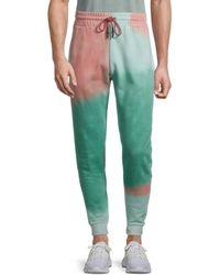ELEVEN PARIS Cotton Tie Dye Joggers - Green