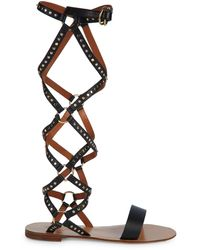 Valentino Garavani Studded Gladiator Sandals - Black