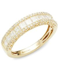 Saks Fifth Avenue - Women's 14k Yellow Gold & Diamond Wedding Ring/size 7 - Size 7 - Lyst