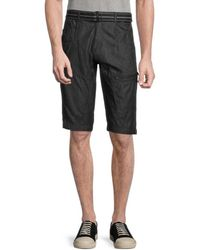 Standard Issue Belted Utility Shorts - Blue
