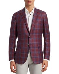 Saks Fifth Avenue Collection Plaid Check Sportcoat - Red