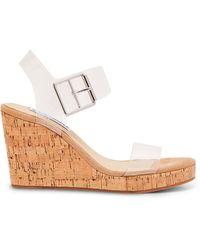 Steve Madden Bloom Translucent Platform Wedge Sandals - Multicolor