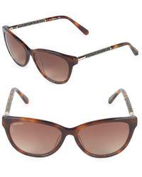 Swarovski - 57mm Butterfly Sunglasses - Lyst