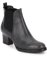 Aquatalia - Tiffany Leather & Textile Booties - Lyst