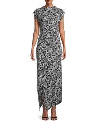 Rebecca Taylor Zebra Lily Sleeveless Dress - Black