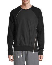 Siki Im Side Zip Cotton Sweatshirt - Black
