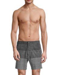 Onia Men's Calder Geometric Swim Shorts - Black - Size S