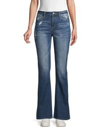 Miss Me - Distressed Bootcut Jeans - Lyst