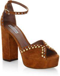 ca3c6b70f626 Tabitha Simmons - Julieta Studs Suede Ankle-strap Sandals - Lyst