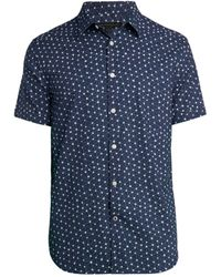 John Varvatos Star-print Shirt - Blue