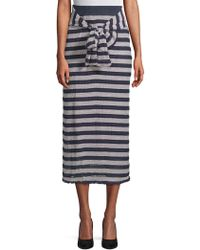 Moon River - Striped Long Skirt - Lyst