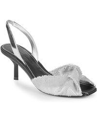 Sigerson Morrison - Jana Leather Slingback Sandals - Lyst