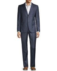 Theory Men's 2-piece Slim Fit Rodolf Wool Suit - Blue - Size 40 R