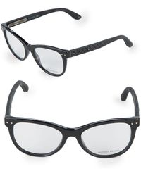 Bottega Veneta - 52 Optical Square Diamond Pattern Frames - Lyst