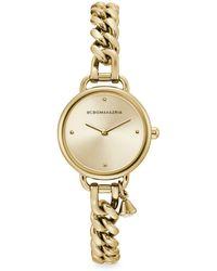 BCBGMAXAZRIA Classic Goldtone Stainless Steel Charm Bracelet Watch - Metallic