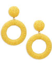 Panacea - Rope Circle Drop Earrings - Lyst