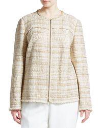 Lafayette 148 New York Plus Dash Artful Tweed Jacket - Natural