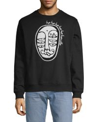 Haculla Soho Crew Graphic Sweater - Black