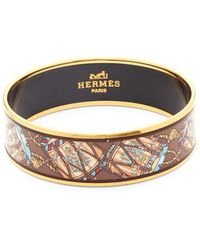 Hermès - Vintage Drum Enamel Bangle Bracelet - Lyst