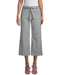 Pure Navy - Belted Flare Houndstooth Pants - Lyst