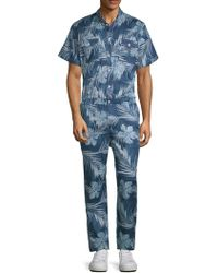 Standard Issue - Button-down Point Collar Jumpsuit - Lyst