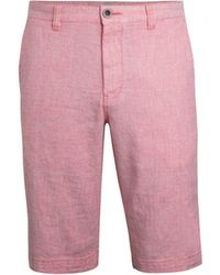 Tommy Bahama Beach Linen Flat-front Shorts - Pink