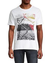 True Religion Men's Chainlink Graphic T-shirt - Optic White - Size Xxl