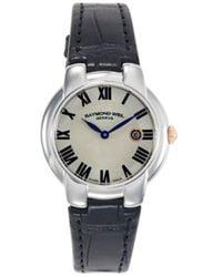 Raymond Weil Women's Stainless Steel & Leather-strap Watch - White