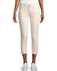 AG Jeans Prima Cropped Jeans - Pink