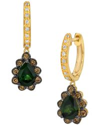 Le Vian Hunters Green Tourmaline And 14k Honey Gold Drop Earrings - Multicolour