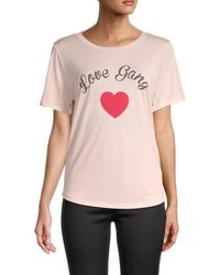 South Parade Women's Graphic Cotton-blend Tee - Pink - Size Xs