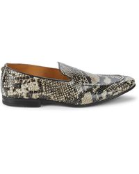 Kurt Geiger Palermo Snakeskin-printed Leather Loafers - Natural