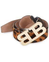 Bally Mirror B Leather Belt - Brown