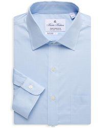 Brooks Brothers Men's Regent-fit Plaid Dress Shirt - Light Blue - Size 15.5 34