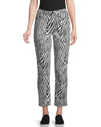 FRAME Le High Zebra-print Straight-leg Jeans - Black